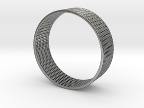 Abstract Bracelet (77 mm-diameter) in Raw Silver