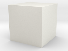 1cc Cube in White Natural Versatile Plastic