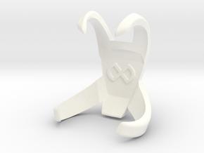 Courage Wing Straps in White Processed Versatile Plastic