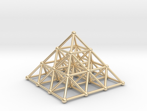 Pyramid Matrix - 3x3 Grid in 14k Gold Plated Brass