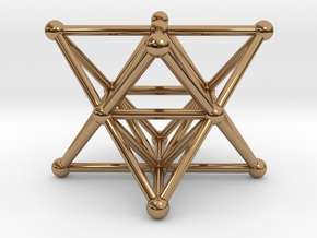 Merkaba - Star tetrahedron in Polished Brass