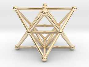 Merkaba - Star tetrahedron in 14K Yellow Gold