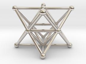Merkaba - Star tetrahedron in Rhodium Plated Brass