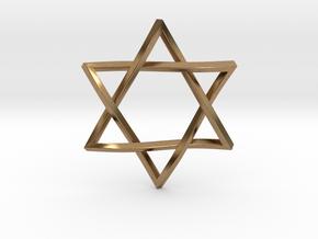 Penrose Star of David in Natural Brass
