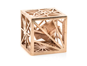 Origami Cubed Bases in Natural Bronze