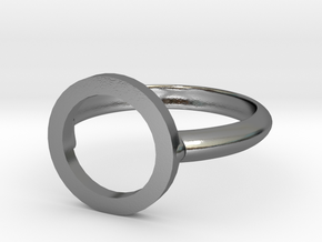 O Ring in Polished Silver
