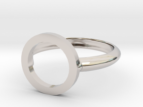 O Ring in Rhodium Plated Brass
