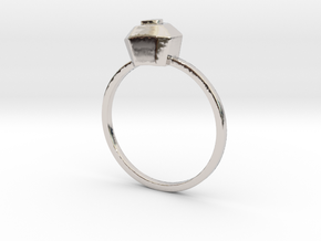 Ruby (all size 4-13) in Rhodium Plated Brass: 4 / 46.5
