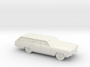 1/87 1965 Chevrolet Impala Station Wagon in White Natural Versatile Plastic
