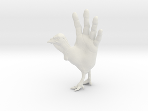 Hand Turkey in White Strong & Flexible: Small