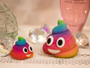Rainbow Poop (small) in Full Color Sandstone