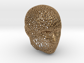 Voronoi Head in Natural Brass