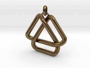Escher Knot Pendant in Natural Bronze (Interlocking Parts)