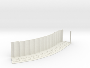 MARKET SUBWAY EL HO SCALE 1 Track Curve45 Pt2  in White Natural Versatile Plastic