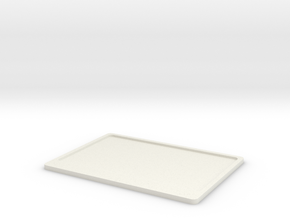 Licence plate holder rear for text D90 D110 1:10 in White Natural Versatile Plastic