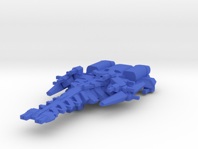 Colour Rim Bastion Battle Cruser in Blue Strong & Flexible Polished