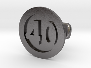 Cufflink 40 in Polished Nickel Steel