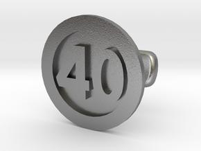 Cufflink 40 in Natural Silver