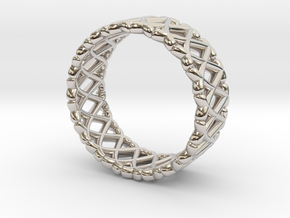Ring Of X's in Rhodium Plated
