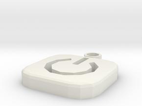 Power Earrings in White Natural Versatile Plastic