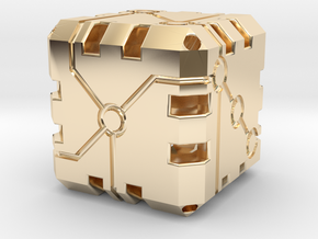 Vertex Dice Hollow the original in 14k Gold Plated Brass: Small