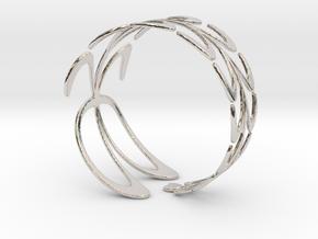 Ficoni Bracelet in Rhodium Plated Brass
