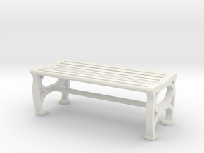 1:48 Park Bench in White Strong & Flexible