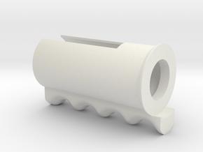 Push Button Handle in White Natural Versatile Plastic