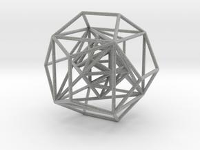 Nested Platonic Solids in Metallic Plastic