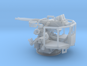 1/144 40mm Bofors twin mount USN  in Smooth Fine Detail Plastic