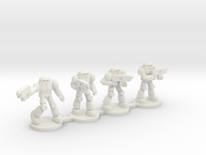 Scarab battle Armor Squad in White Natural Versatile Plastic