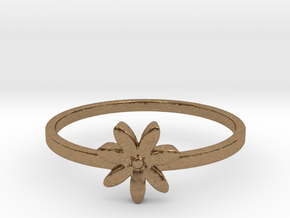 Flower  in Natural Brass: 4 / 46.5