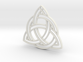 Celtic Pendant in White Natural Versatile Plastic
