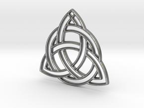 Celtic Pendant in Natural Silver