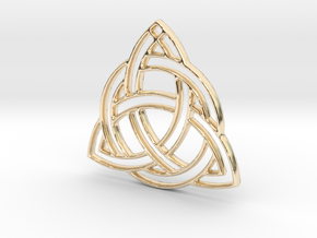 Celtic Pendant in 14k Gold Plated Brass