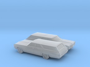 1/160 2X 1966 Chevrolet Impala Station Wagon in Frosted Ultra Detail