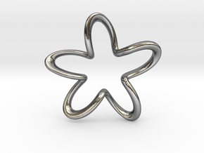 Flower in Polished Silver