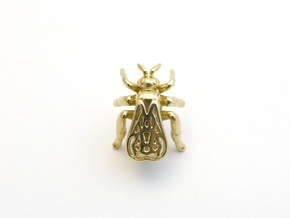 Honeybee Lapel Pin in Polished Brass