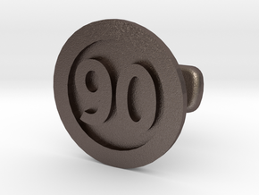 Cufflink 90 in Polished Bronzed Silver Steel