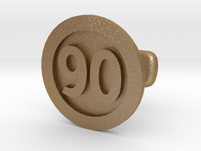 Cufflink 90 in Matte Gold Steel