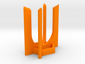 HEXA Lightsaber Display Stand in Orange Processed Versatile Plastic