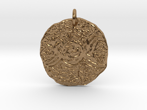 Rugged Triple Moon by Gabrielle in Natural Brass