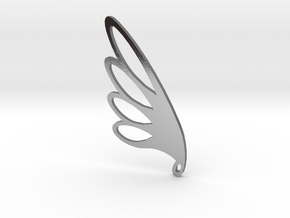 Feather Falling in Polished Silver