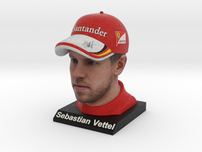Sebastian 1/8 Head Figure in Full Color Sandstone