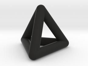 0592 Tetrahedron E (a=10-100mm) #001 in Black Strong & Flexible: Extra Small