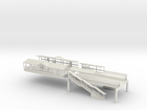 HO Subway / Elevated  W Phila Station 2/3  in White Natural Versatile Plastic