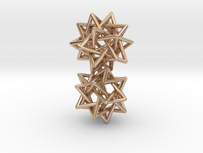 5 tetrahedron earrings in 14k Rose Gold Plated