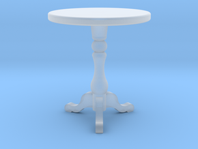 1:48 Round Table in Smooth Fine Detail Plastic
