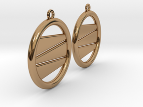 Earring GP Pair in Polished Brass