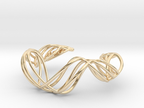 DNA  bracelet for her in 14k Gold Plated Brass